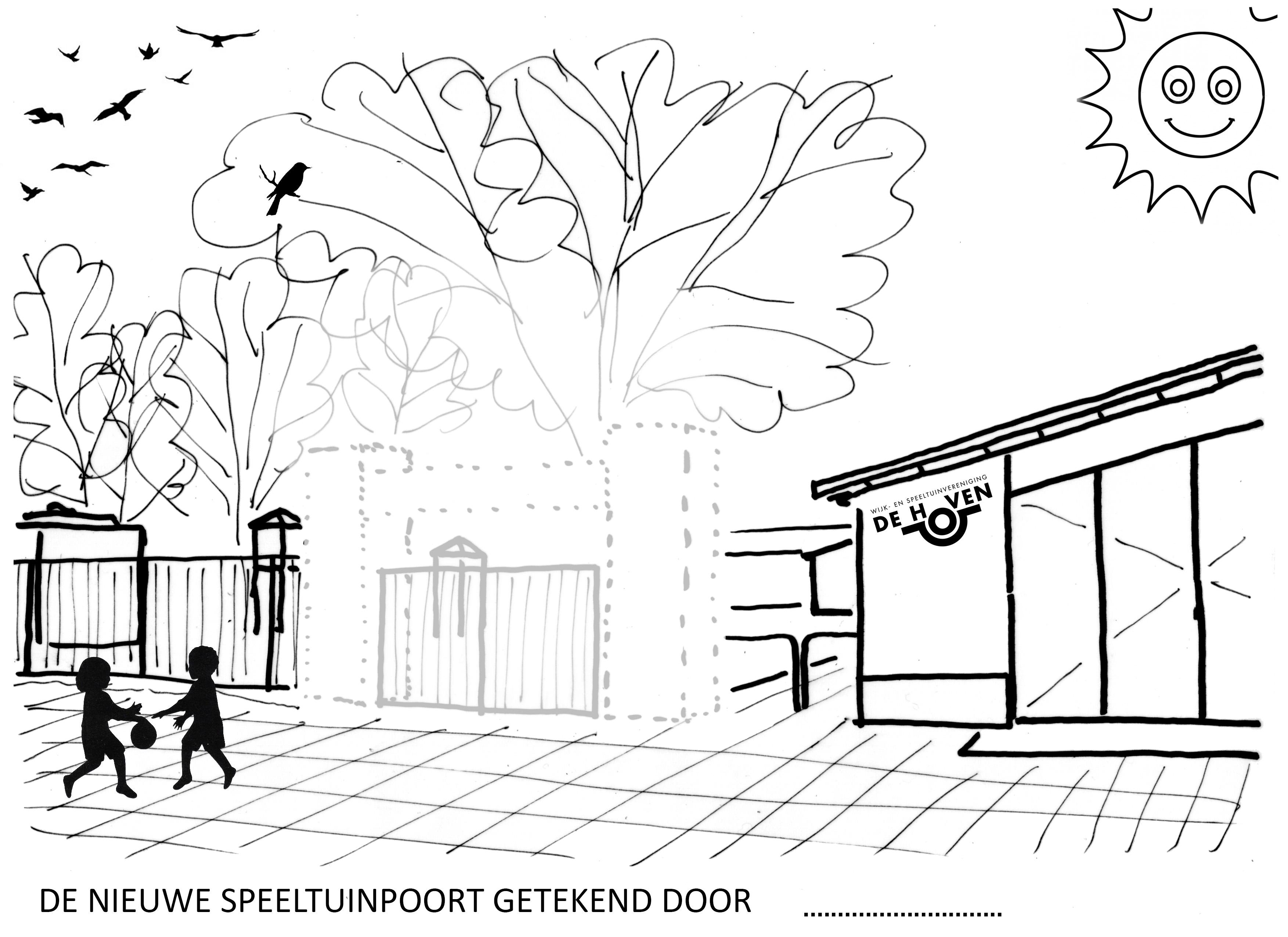 Kids Wie Ontwerpt Nieuwe Entreepoort Speeltuin Wsv De Hoven
