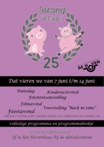 Affiche 25 jaar dansgroep de Eskape
