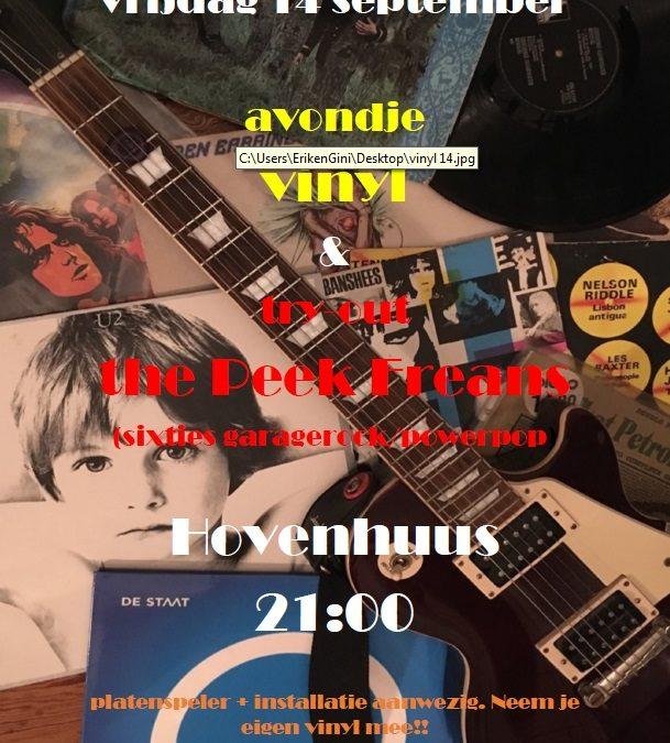 Avondje vinyl & the Peek Freans