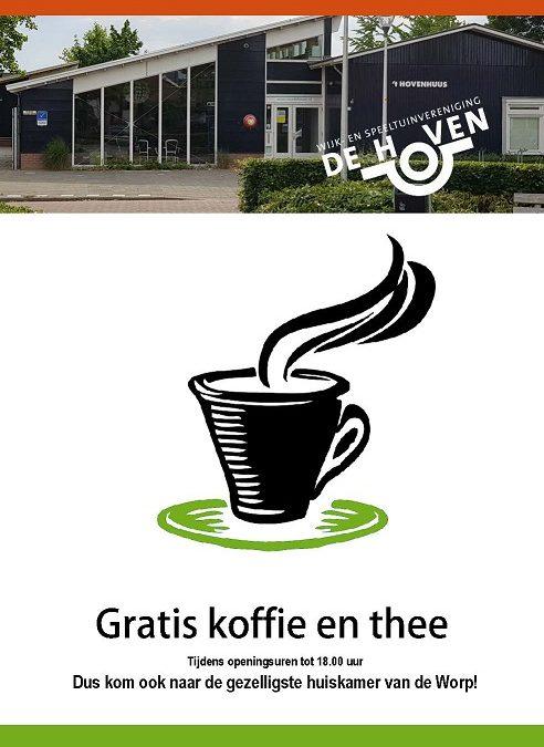 Gratis koffie en thee!